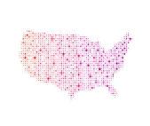 Stars USA Map 4 — Stock Vector