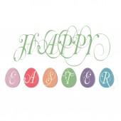 Easter illustration greetings illustration — Stock Vector