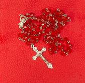 červené korálky — Stock fotografie