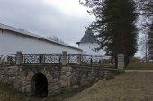 White walls of the monastery — Stock Photo