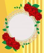 Vintage roses seamless pattern. Greeting Card. — Stock Photo