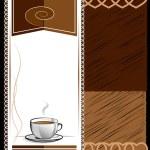 Cup of hot drink - coffee, tea. Menu for restaurant — Stock Vector #63928351