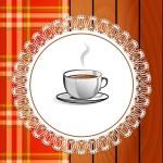 Cup of hot drink - coffee, tea. Menu for restaurant — Stock Vector #63932557