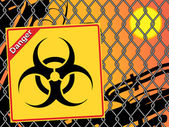 Bio hazard sign. Yellow and black bio hazard — Stock Vector