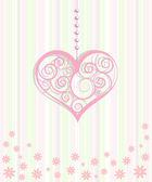 Καρδιές διακοσμητικές στολίδι — Διανυσματικό Αρχείο