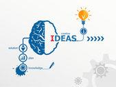 Ideas - innovation concept. Creative light bulb idea abstract in — Stock Vector