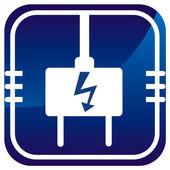 Electric plug icon — Stock Vector