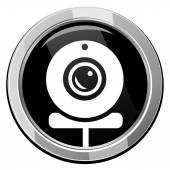 Webcam black icon — Stock Vector