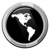 Americas map icon — Stock Vector