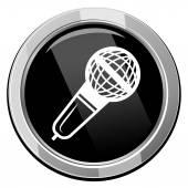 Microphone black icon — Stock Vector