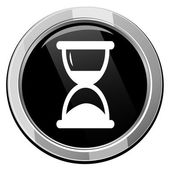 Hourglass time icon — Stock Vector