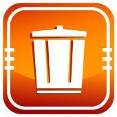 Bidone della spazzatura colorati riciclare — Vettoriale Stock