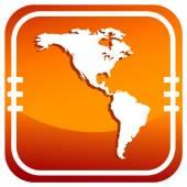 Americas map vector icon — Stock Vector