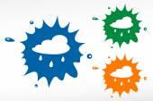 Rain cloud - color blob — Stock Vector