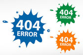 404 error. Page not found on color blob — Stock Vector