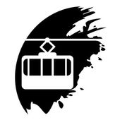 Cable way funicular Vector icon isolated — Vecteur