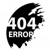 404 error. Page not found. — Stock Vector