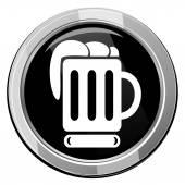 Beer black icon — Stock Vector