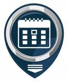 Calendar organizer -  map pointer — Stock Vector