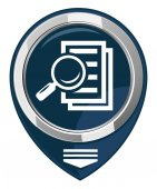 Magnifying glass - search the document.  — Stock Vector