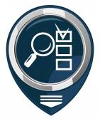 Magnifying glass and checklist — Stock Vector