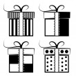 Gift Box Collection. Black and white set — Stock Vector #68267909