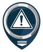 Warning map pointer — Stock Vector