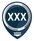 XXX map pointer — Stock Vector