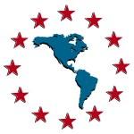 Americas map vector icon — Stock Vector #68272439