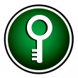 Key - round green icon — Stock Vector #68278875