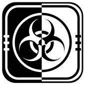 Warning symbol biohazard icon — Stock Vector