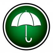 伞-圆绿色图标 — 图库矢量图片