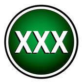 XXX round green icon — Stock Vector