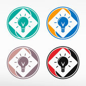 Light bulb - round color set.  — Stock Vector