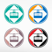 Cable way funicular.  — Stock Vector