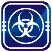 Warning symbol biohazard — Stock Vector