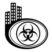 Biohazard warning symbol — Stock Vector