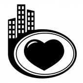 Vector icon isolated - Human organ. Heart — Vector de stock
