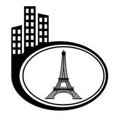 Eiffel Tower in Paris, France. City pointer — Stock Vector