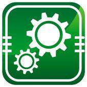 Green Gear icon — Stock Vector