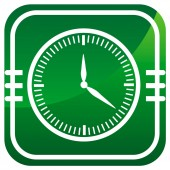 Clock - icon isolated — Vector de stock