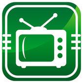 TV green icon — Stock Vector