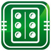 Pillen, medicatie groen pictogram — Stockvector