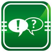 Forum green web icon — Stock Vector