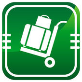 Delivery. Green icon on the button.  — Stock Vector