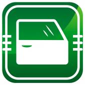 Car door. Green icon. Vector illustration. — Stock Vector