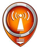 Wifi orange pointer — Vector de stock