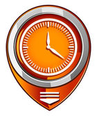 Clock - orange pointer — Stock Vector
