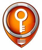 Key - orange pointer — Stock Vector