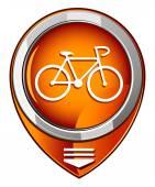 Bicycle orange pointer — Stockvektor